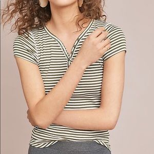 Anthropologie Tops - Anthropologie Pure + Good striped henley tee